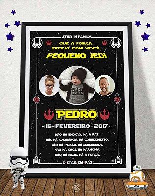 Quadro Nosso Pequeno Jedi - Star Wars