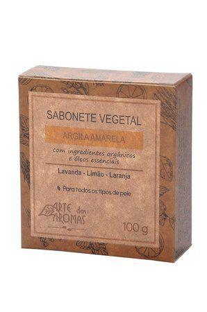 Sabonete Vegetal - Argila Amarela 100g - Arte dos Aromas