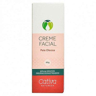 Creme Facial - Pele Oleosa 60g - Cativa Natureza
