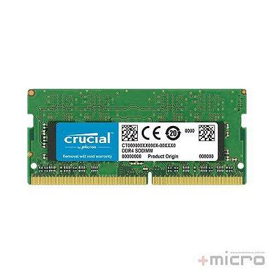 Memória 4 Gb DDR4 Crucial 2400 MHz para notebook
