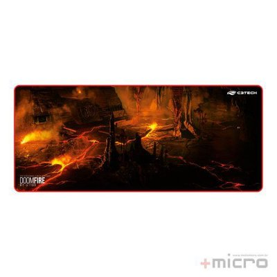 Mouse pad gamer Doom Fire C3 Tech MP-G1100
