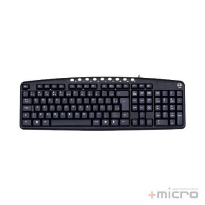 Teclado multimídia USB C3 Tech KB2237