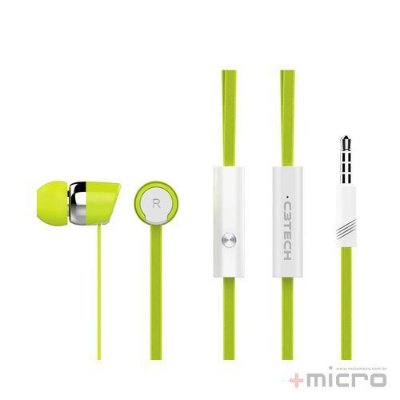Fone de ouvido intra C3 Tech Spirit EP-103WGN