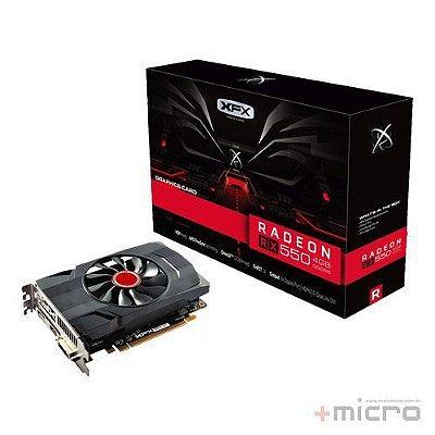 Placa de vídeo PCI-E XFX AMD Radeon RX 550 4 Gb GDDR5 128 Bits
