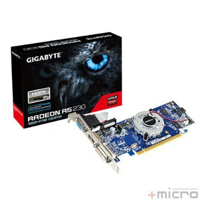 Placa de vídeo PCI-E Gigabyte AMD Radeon R5 230 1 Gb DDR3 64 Bits