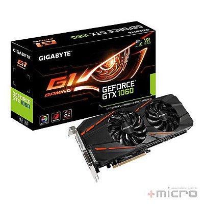 Placa de vídeo PCI-E Gigabyte nVIDIA GTX 1060 6 Gb GDDR5 192 Bits
