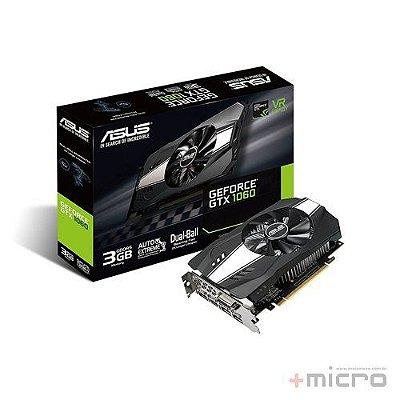 Placa de vídeo PCI-E Asus nVIDIA GTX 1060 3 Gb GDDR5 192 Bits