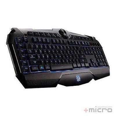 Teclado gamer multimídia USB Thermaltake Tt eSPORTS Challenger Prime (KB-CHM-MBBLPB-01)