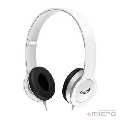 Fone de ouvido dobrável com microfone Genius HS-M430 branco