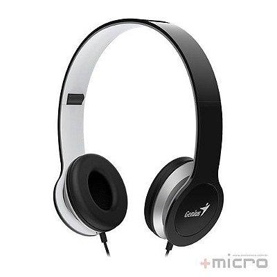 Fone de ouvido dobrável com microfone Genius HS-M430 preto