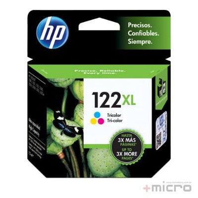 Cartucho de tinta HP 122XL (CH564HB) preto 7,5 ml