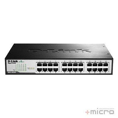 Switch Ethernet 24 portas para rack Gigabit D-Link DGS-1024D