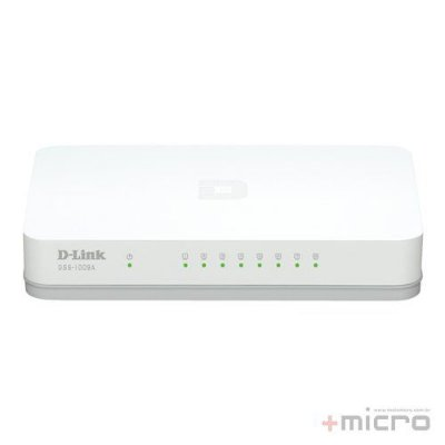 Switch Ethernet 8 portas Gigabit D-Link DGS-1008A