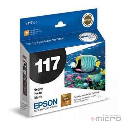 Cartucho de tinta Epson T117120-BR preto 5 ml