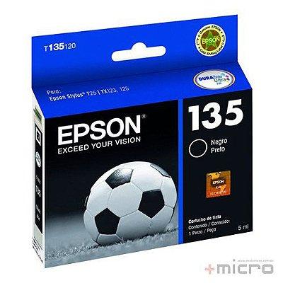 Cartucho de tinta Epson T135120-BR preto 5 ml