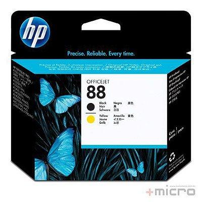 Cabeçote de impressão HP 88 (C9381A) preto e amarelo