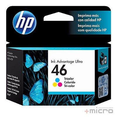 Cartucho de tinta HP 46 (CZ638AL) colorido 16 ml