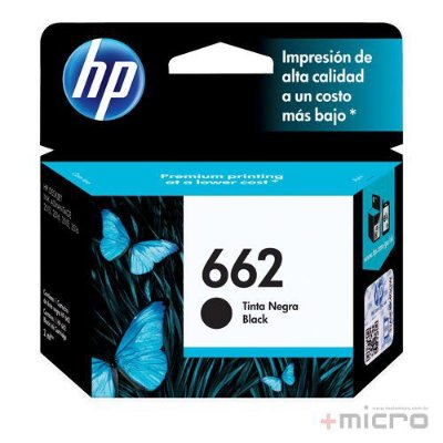 Cartucho de tinta HP 662 (CZ103AB) preto 2 ml