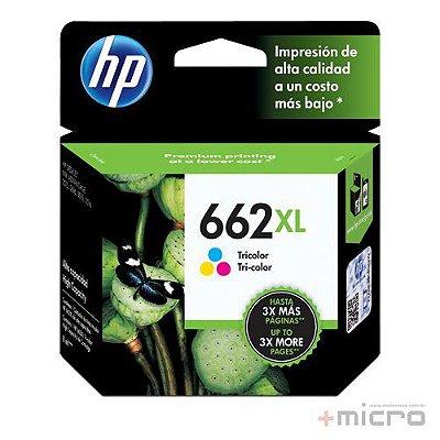 Cartucho de tinta HP 662XL (CZ106AB) colorido 8 ml
