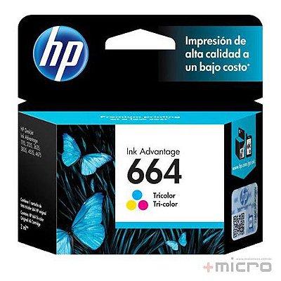 Cartucho de tinta HP 664 (F6V28AB) colorido 2,0 ml