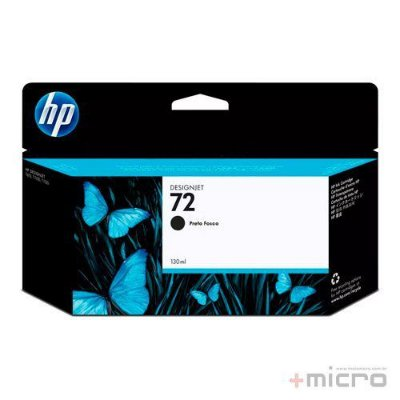 Cartucho de tinta HP 72 (C9403AB) preto 130 ml
