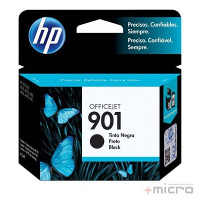 Cartucho de tinta HP 901 (CC653AB) preto 4,5 ml