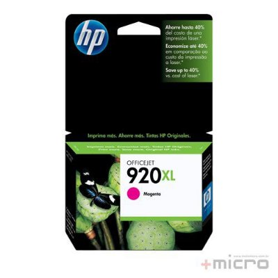 Cartucho de tinta HP 920XL (CD973AL) magenta 6,5 ml