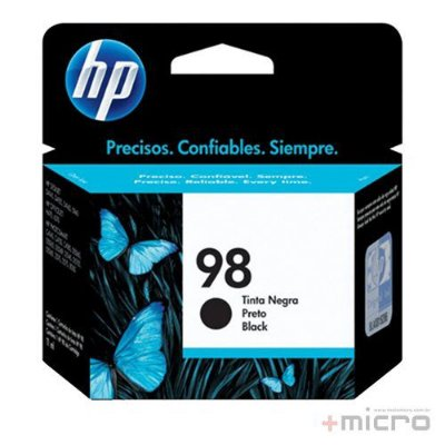 Cartucho de tinta HP 98 (C9364WL) preto 11 ml