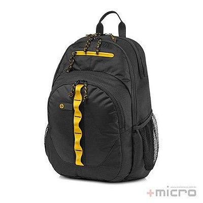 "Mochila para notebook HP Sport 15,6"" (F3W17AA) preta/amarela"