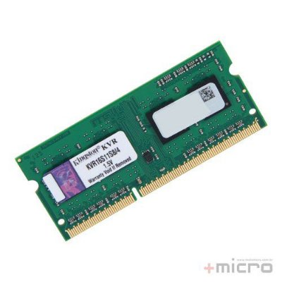 Memória para notebook 4 Gb DDR3 Kingston 1600 MHz