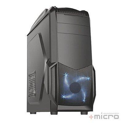 Gabinete gamer K-MEX CG-04A6 preto led azul
