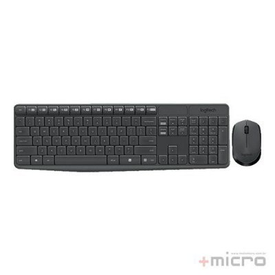 Combo wireless multimídia Logitech MK235