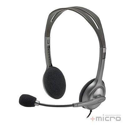 Headset com microfone Logitech H110 grafite