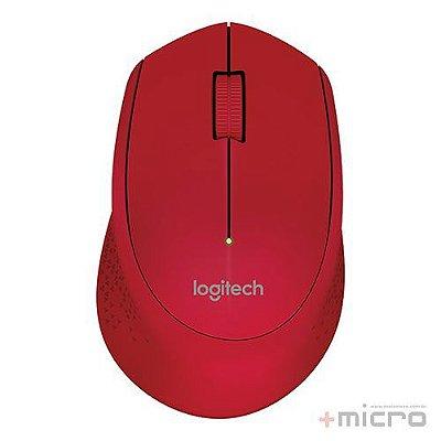 Mouse wireless USB Logitech m280 vermelho