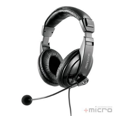 Headset com microfone Multilaser Giant PH245 USB preto