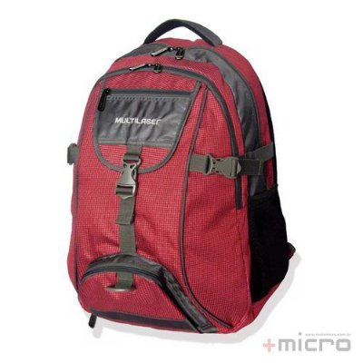 """Mochila para notebook Multilaser Swiss BO380 15,6"""" vermelha"""