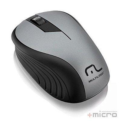 Mouse Wireless USB Multilaser MO213 preto/grafite