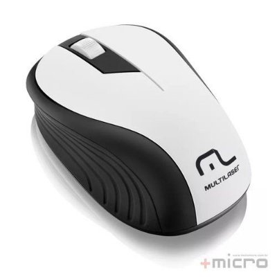 Mouse Wireless USB Multilaser MO216 preto/branco