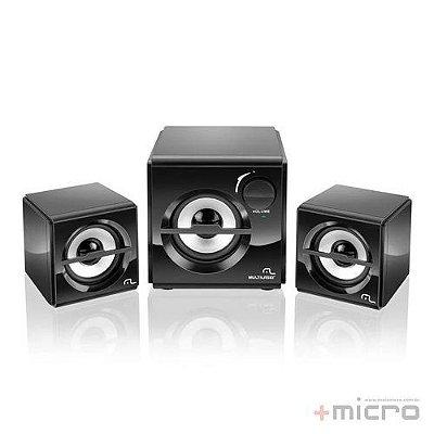 Speaker 2.1 Multilaser SP081 bivolt preto