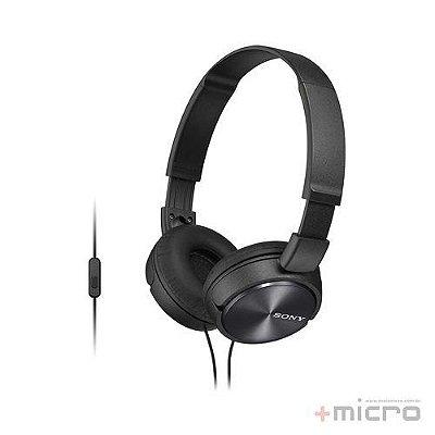 Fone de ouvido com microfone Sony MDR-ZX310APBCCE7 preto