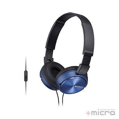Fone de ouvido com microfone Sony MDR-ZX310APLCCE7 azul