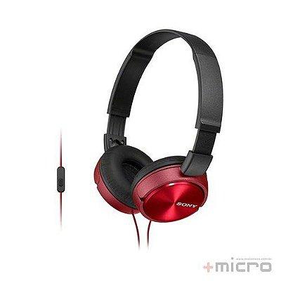 Fone de ouvido com microfone Sony MDR-ZX310APRCCE7 vermelho
