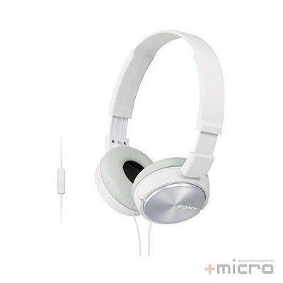 Fone de ouvido com microfone Sony MDR-ZX310APWCCE7 branco