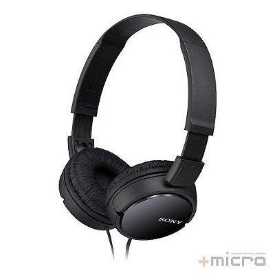 Fone de ouvido Sony MDR-ZX110/BCAE preto