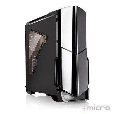 Gabinete gamer Thermaltake Versa N21 preto led vermelho