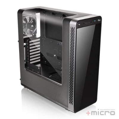 Gabinete gamer Thermaltake View 27 preto led azul