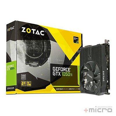 Placa de vídeo PCI-E Zotac nVIDIA GTX 1050TI 4 Gb GDDR5 128 Bits