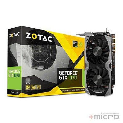 Placa de vídeo PCI-E Zotac nVIDIA GTX 1070 8 Gb GDDR5 256 Bits