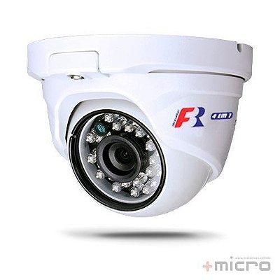 Câmera dome AHD+HDTVI+HDCVI+CVBS 1080p IR 2,8mm 25m Focusbras FS-MDF2Mc
