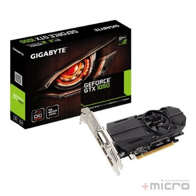 Placa de vídeo PCI-E Gigabyte nVIDIA GTX 1050 2 Gb GDDR5 128 Bits